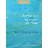 J Koh's Fingering Method: Scales and Arpeggios for Piano Grade 3