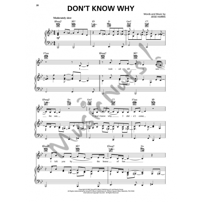 All Music Chords don t know why norah jones sheet music : Jones - Piano Play-Along Volume 121 (Piano/Vocal/Guitar with CD)