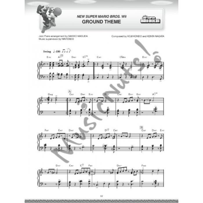 Super Mario Jazz Piano Arrangements (15 Intermediate