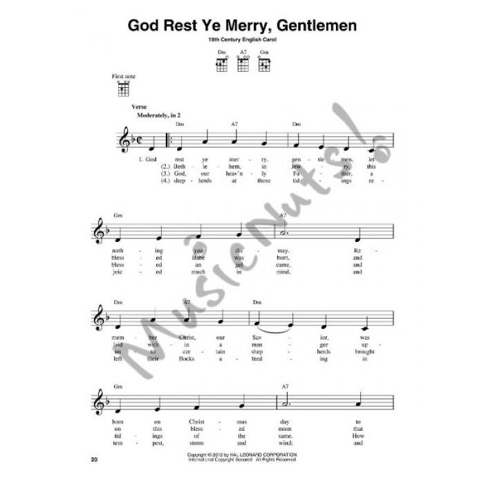 Chord Christmas Carols for Ukulele