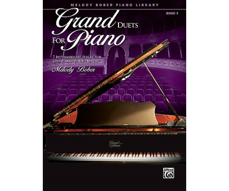 Grand Duets for Piano Book 5 - 7 Intermediate Pieces for One Piano, Four Hands