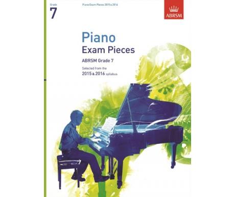 Piano Exam Pieces ABRSM Grade 7 2015 & 2016