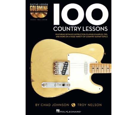 Guitar Lesson Goldmine: 100 Country Lessons (with CD)
