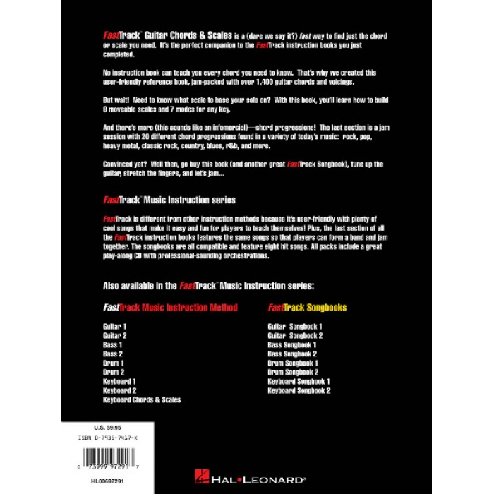 FastTrack Music Instruction Chords & Scales for Guitar (with CD)