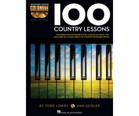 Keyboard Lesson Goldmine: 100 Country Lessons (with CD)