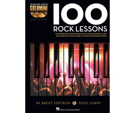 Keyboard Lesson Goldmine: 100 Rock Lessons (with CD)