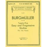 Burgmüller Op. 100 - Twenty-Five Easy and Progressive Studies for the Piano